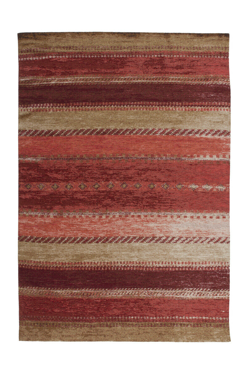 Arte Espina Tapis vintage aspect Use rigide Salon Rouge Beige 155x230cm