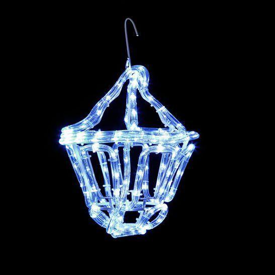 33cm premier outdoor lantern rope light christmas decoration in cool white leds ebay
