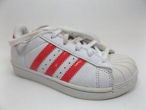buy popular b694a 9d668 Image is loading adidas-Originals-Kids-Superstar-Sneaker-Girl-039-s-