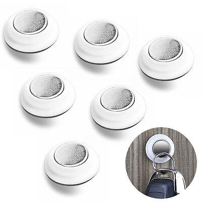 6x Magnetic Key Holder Strong Magnet Sticky Hook Rack Iron Gadget Catcher New