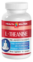 Increases Concentration Caps - L-theanine 200mg - Essential Amino Acid Powder 1b