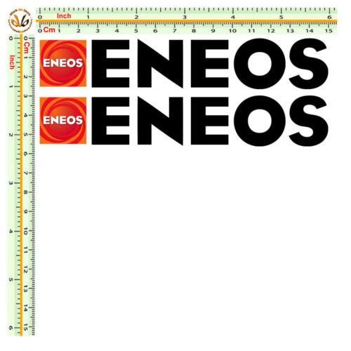 eneos sticker adesivi sponsor decal moto size cm.15 pretagliati pvc nero 2 pz.