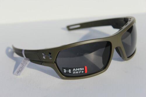 UNDER ARMOUR Battlewrap Sunglasses Satin Rough Green//Gray $100 ANSI Ballistic