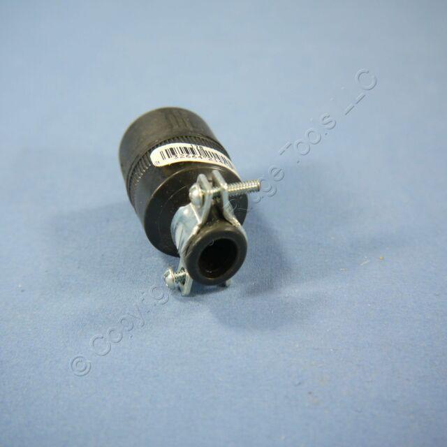 Eagle Black Polarized Straight Blade Connector Plug Nema 1