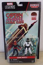 Marvel Legends Cosmic Mar-vell & Carol Danvers Captain 2 Pack Exclusive Comic