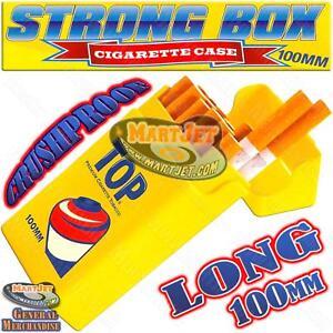 Strong-Box Flip Top Cigarette Case 100s Long Size 100 MM Hard Crushproof Plastic