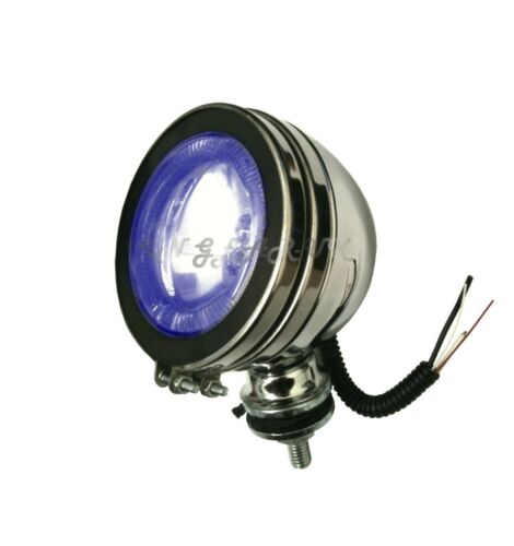 "4/"" BLUE Angel Eye Boat Spotlight Lighting Angeleye Style Spot Lamp Deck Light"
