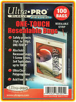 100 Ultra Pro One Touch Resealable Bags Magnetic Screw Toploader Card Sleeve