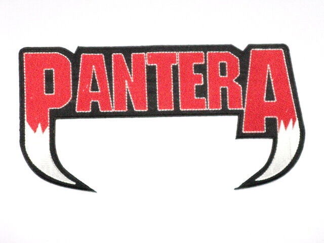"PANTERA Cut Out Logo Embroidered Metal Giant Back Patch 11""x5"""