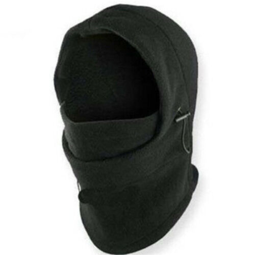 6 in1 Thermal Fleece Balaclava Neck Winter Ski Mask Full Face Cap Motorcycle Hat