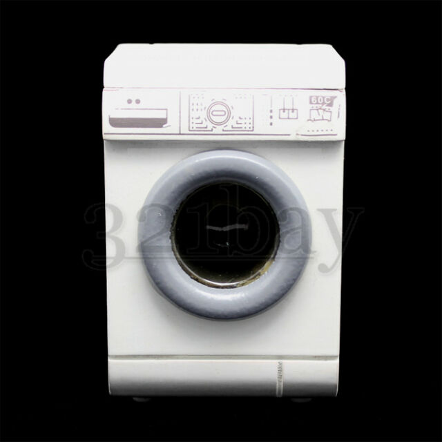 Dollhouse Miniature 1//12 Scale White Washing Machine  Dryer Integrated Cabinet