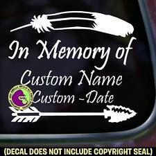MEMORIAL Native American - ADD CUSTOM WORDS Car Window Sign Decal Sticker