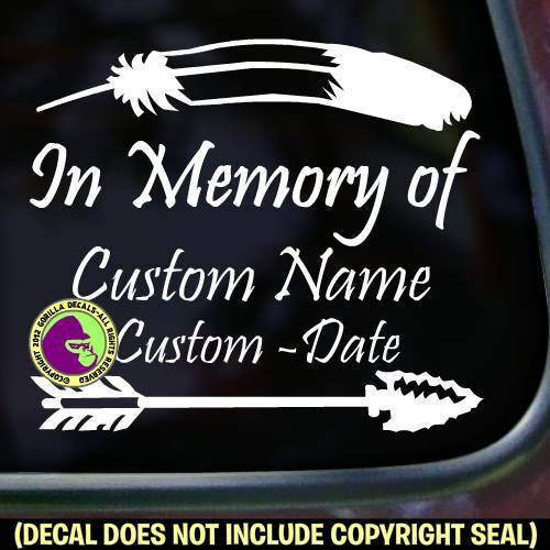 Memorial native american add custom words car window sign decal sticker ebay