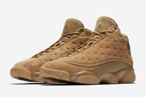 los angeles 4ce49 ee518 Details about Nike Air Jordan Retro 13 Wheat Size 4-14 Elemental Gold Tan  Brown 414571-705