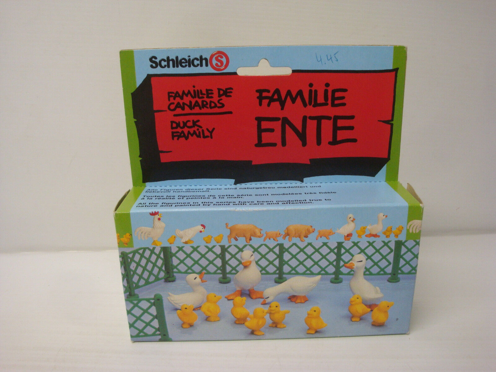 Rare boite figurines Schleich série ferme - famille de canards ref 12740 - NEUF