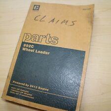 Cat Caterpillar 992c Wheel Loader Parts Manual Book Catalog Front End 49z Series