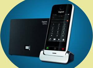 NEU-Gigaset-SL910A-Anrufbeantworter-Touchscreen-analog-DECT-Telefon-Metallgehaese
