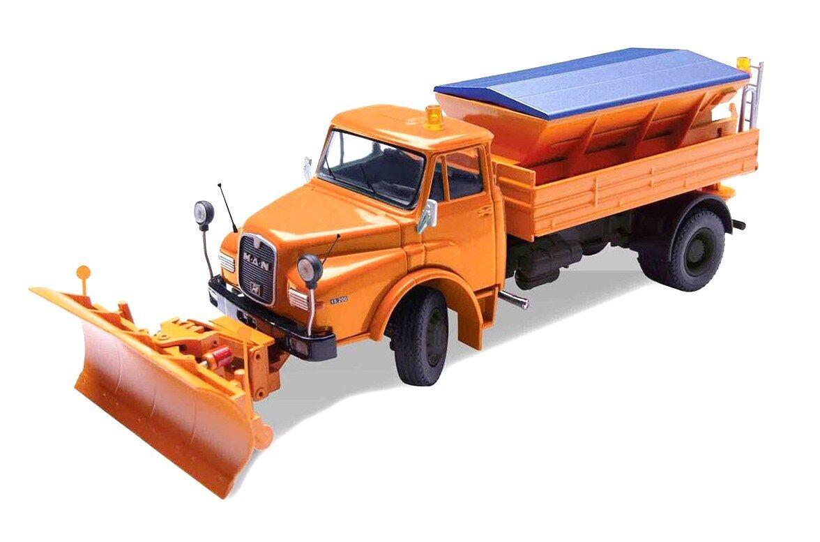 Conrad 1053 Man Hak 15.200 camiones con quitanieves & Sal Esparcidor 1 50 DIE-CAST MIB