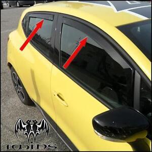 Set 4 Deflettori Aria Antiturbo Oscurati Renault Clio IV dal 2012 5p 5 porte