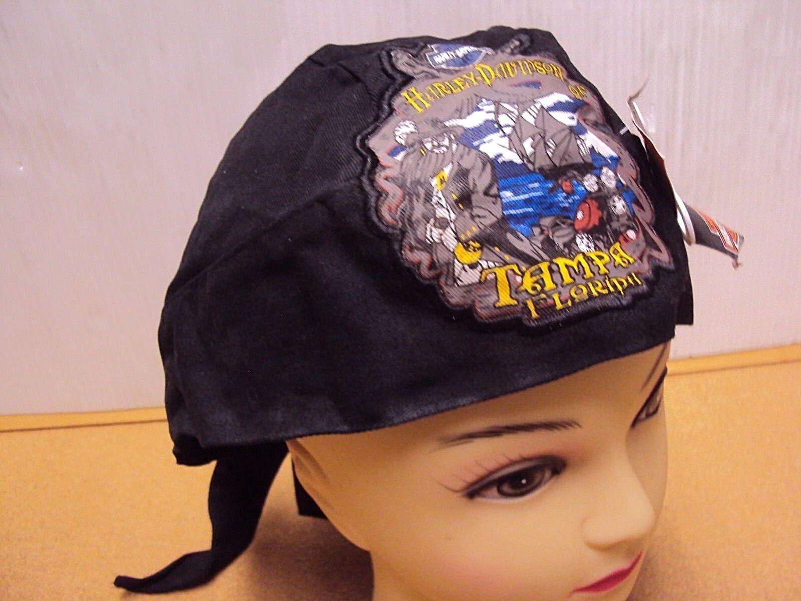 Harley-Davidson Du Rag Kopftuch Stirnband Totenkopf Kappe Hut Doo Tampa Florida