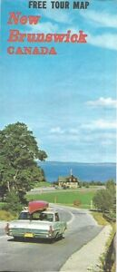 Map Of Canada New Brunswick.1968 New Brunswick Official Highway Road Map Canada Fredericton