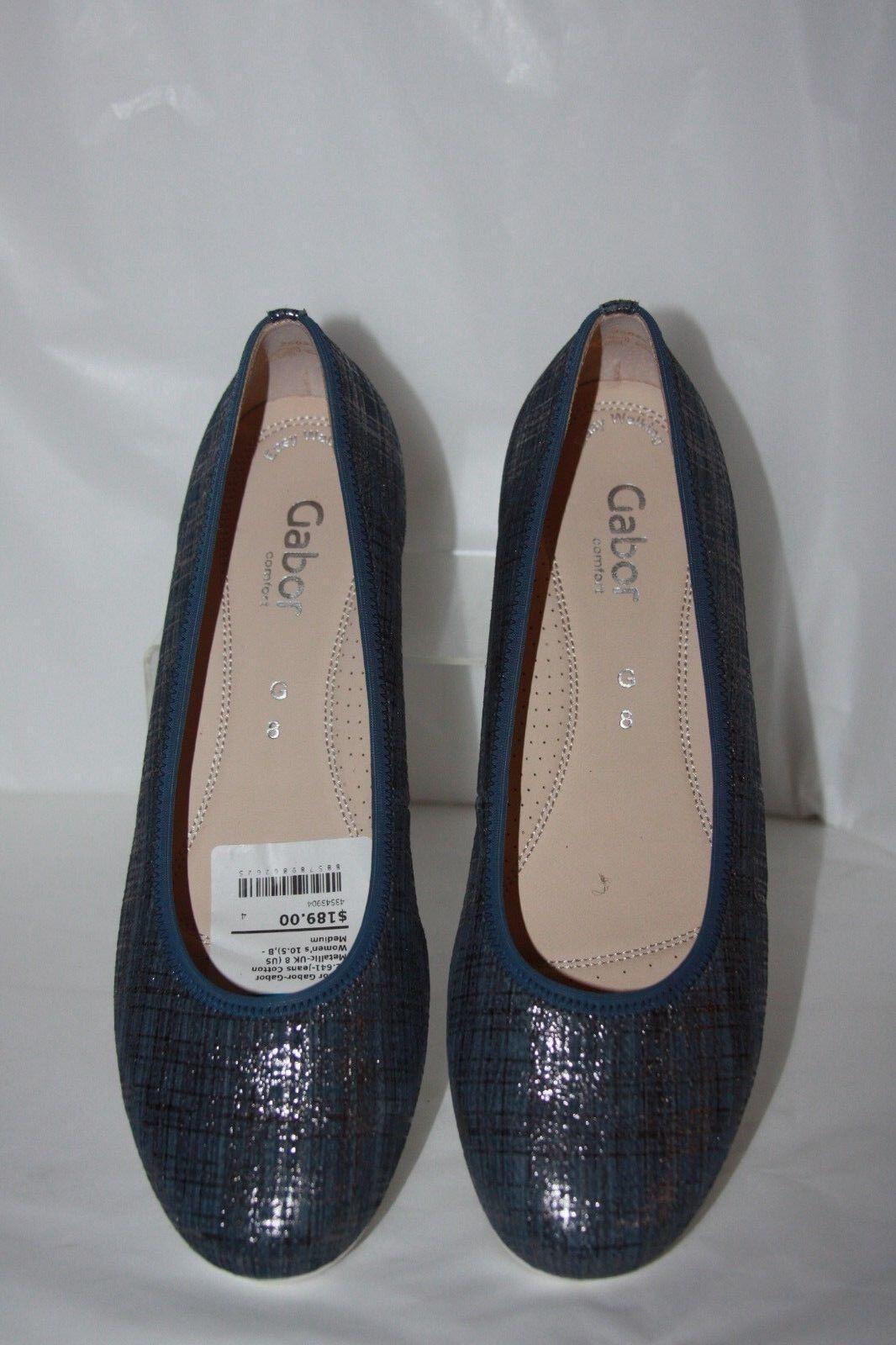 Gabor Gabor 82-641 Jeans cotton Metallic Espadrille  Damens's Größe 10.5  m