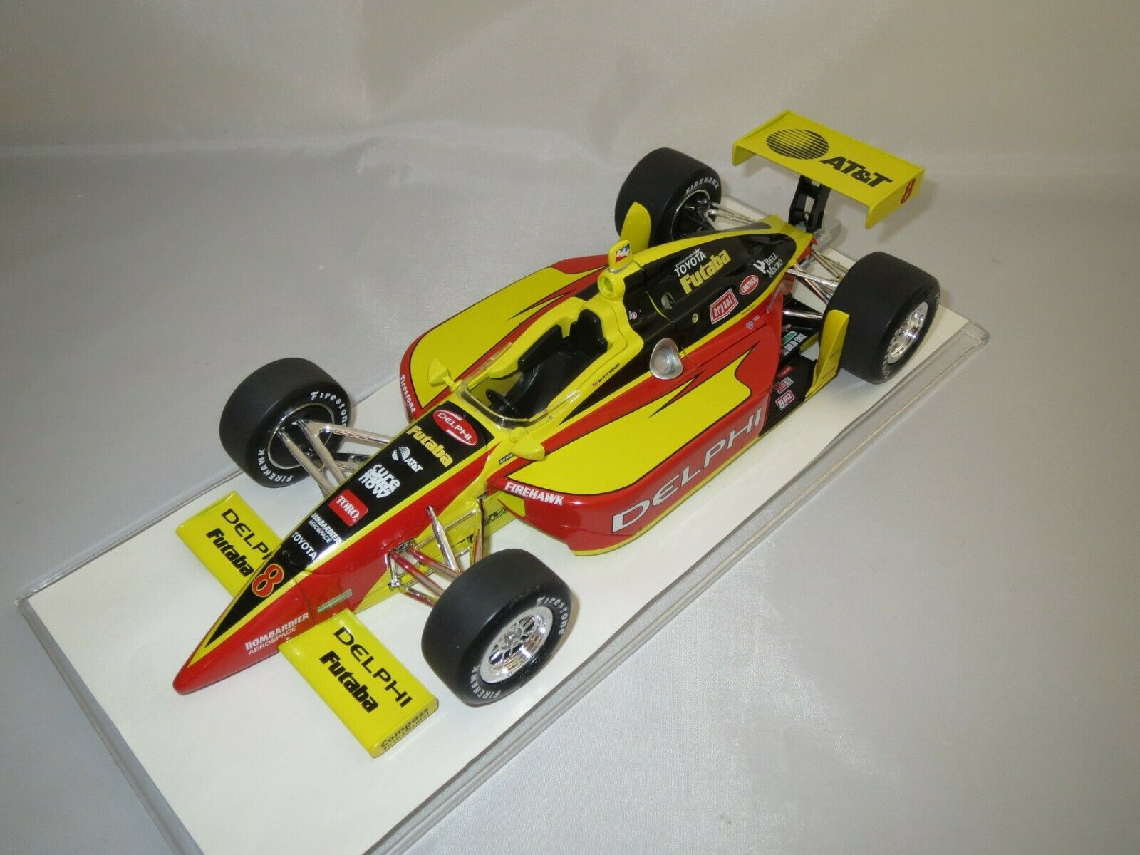 la red entera más baja Acción performance Indy Racing Coche Scott Sharp Sharp Sharp  8 Delphi  2003  dallara embalaje original   connotación de lujo discreta
