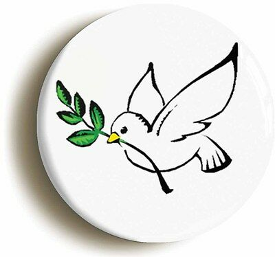 PEACE DOVE BADGE BUTTON PIN (Size is 1inch/25mm diameter) SIXTIES 1960s HIPPIE