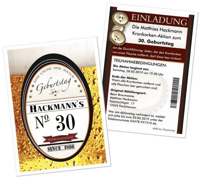 Einladungskarte Einladung Geburtstag lustig lustig lustig originell Bier - JEDES ALTER GEHT   | New Products  | Sale  f95df8