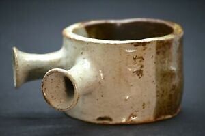 Studio-Handcrafted-Pottery-Two-Handled-Bowl-Stoneware-Glazed-Decorative
