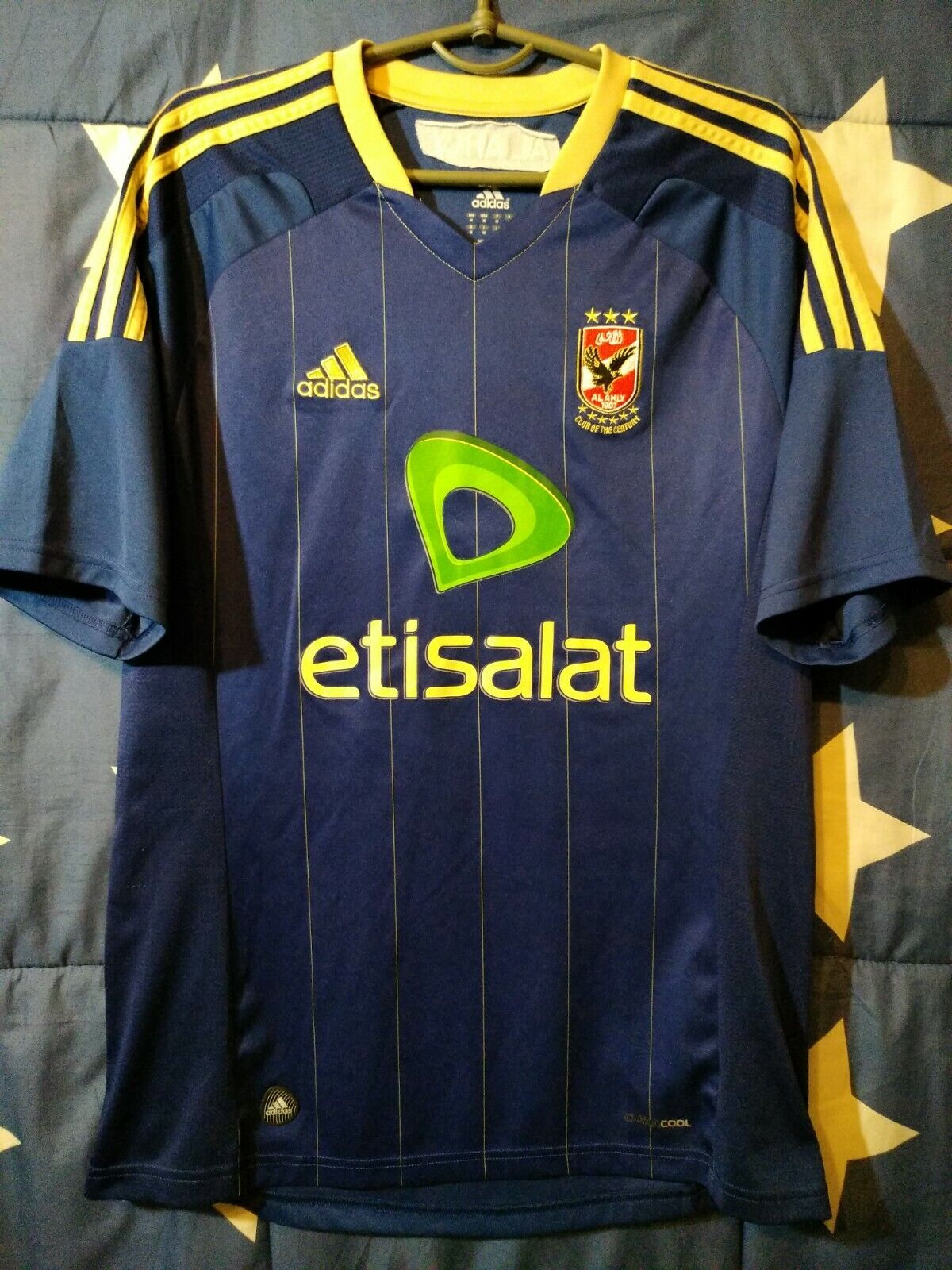 Dimensione M Al Ahly Egypt 20112012 Away Football Shirt Jersey Adidas