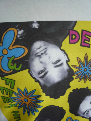 DE LA SOUL 3 FEET HIGH AND RISING LOGO T-SHIRT CLASSIC HIP HOP OLD SCHOOL DANCE