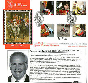 2005-TROOPING-THE-COLOUR-M-SHEET-SIGNED-LORD-GUTHRIE-BENHAM-FIRST-DAY-COVER-SHS