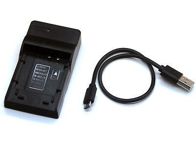 para Panasonic hc-v10//hc-v100//hc-v100 Rápido-cargador con micro USB Plug