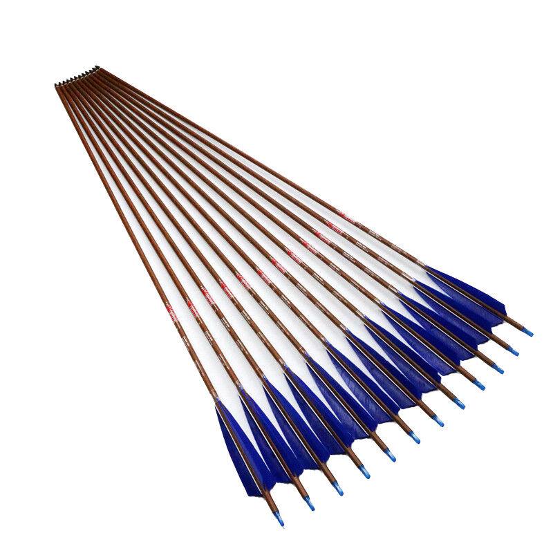 12PC 32  SP500 ID6.2 Eje De  Flecha Tiro Con Arco Cochebono Flechas De Arco Compuesto Aspas de Turquía  distribución global