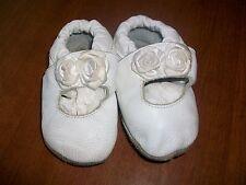"""Shoo Shoos White leather White Flowers Girl's 6-12 MO Medium 4.92"""""""