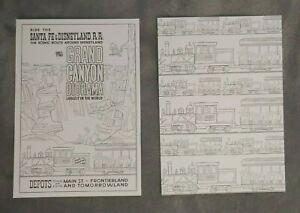 Grand-Canyon-Diorama-Postcard-Lot-Attraction-Poster-Disneyland-Railroad