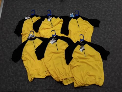 6 x Large New Avenir yellow cycling jerseys