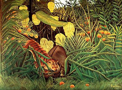 Rousseau cod 09 Poster 70x100 papi arte moderna naif stampa