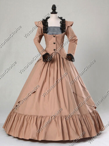 Victorian Costumes: Dresses, Saloon Girls, Southern Belle, Witch    Victorian Gothic Steampunk Vampire Temptress Gown Theater Halloween Costume 167 $155.00 AT vintagedancer.com