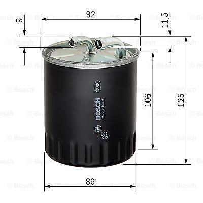 Filtro Carburante Gasolio Bosch Mercedes Classe A W169 Classe C Smart 454