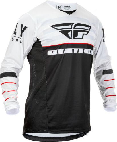 Fly Racing Mens Black//White//Red Kinetic K120 Dirt Bike Jersey MX ATV 2020