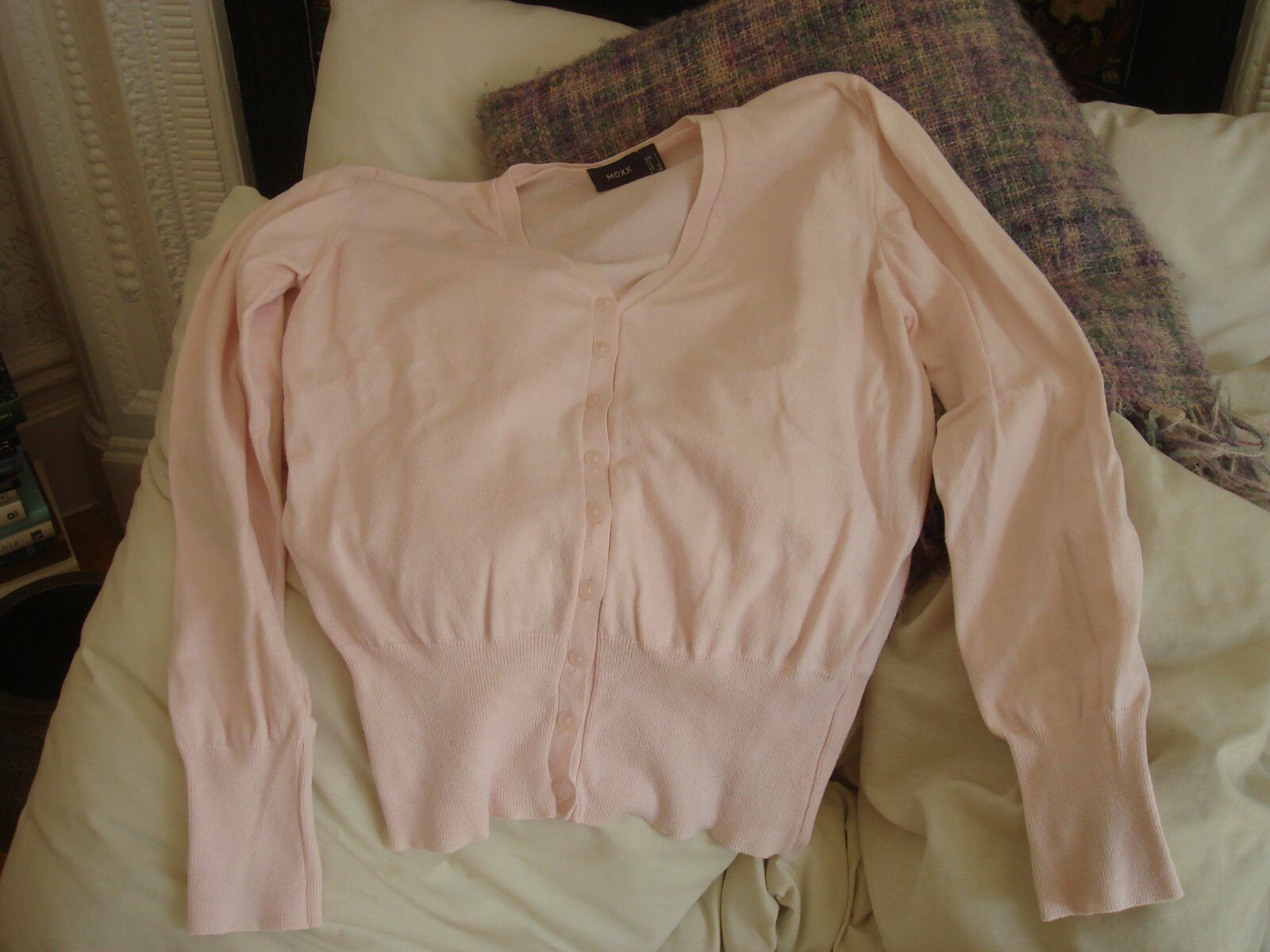 Women's Mexx Cotton Blend Pink Cardigan Jumper Sweater Top Made  Large L