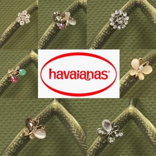 Original HAVAIANAS Slim Vert Camo cristal ou Personnalisé Cristal Charms