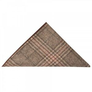 Brown Check Tweed Pocket Square Tweed Handkerchief Tweed Hanky