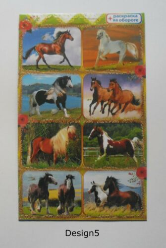10x15cm Horses and foals Stickers 4x6/'/'
