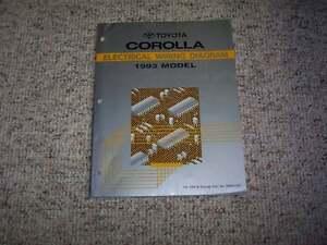 1993 Toyota Corolla Electrical Wiring Diagram Manual ...