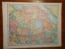 1884 CANADA DOMINION Map Antique Original Ottawa Montreal Ontario Old RR MAPZ126