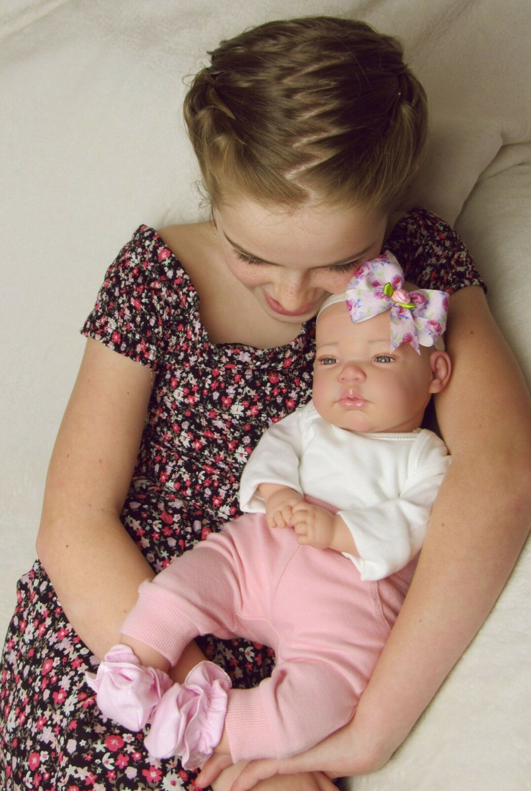 Beautiful Reborn Baby Girl Doll Ava Awake Open Open Open Blau Eyes by BabyDollArt UK 29737a