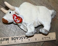 Ty Beanie Babies Frosty the White Bull Mint w// Tag PE pellet 2003